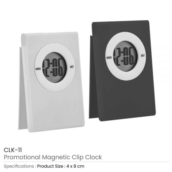 Digital Table Clock with Magnetic Clip: