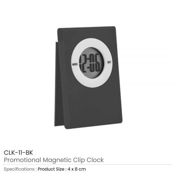 Digital Table Clock Black
