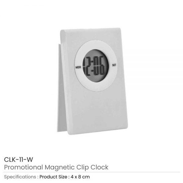Digital Table Clock White