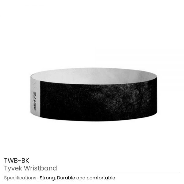 Tyvek Wristbands Black