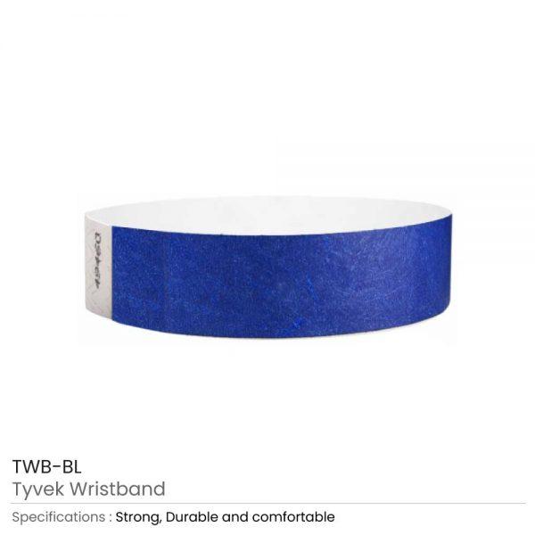Tyvek Wristbands Blue