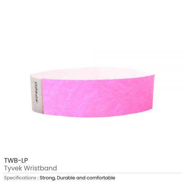 Tyvek Wristbands Light Pink