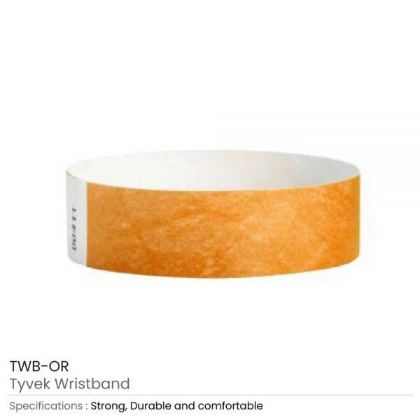 Tyvek Wristbands Orange