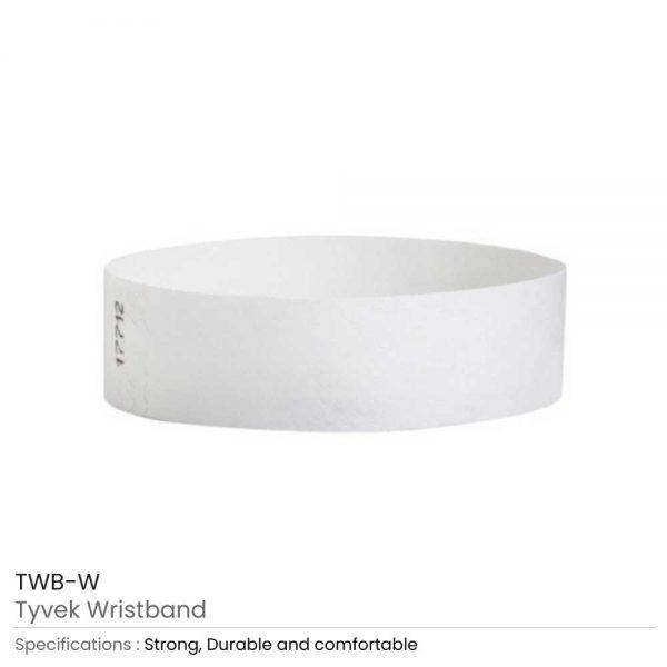 Tyvek Wristbands White
