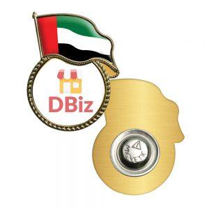 UAE Flag Metal Badges with Logo