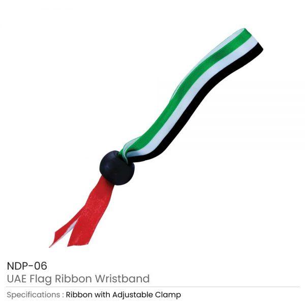UAE Flag Ribbon Wristband