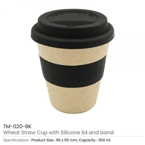 Wheat Straw Cups Black