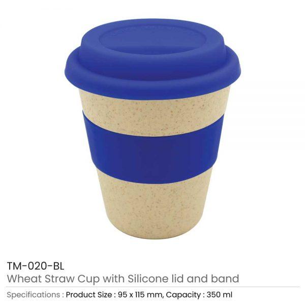 Wheat Straw Cups Blue