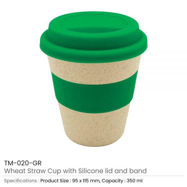 Wheat Straw Cups Green