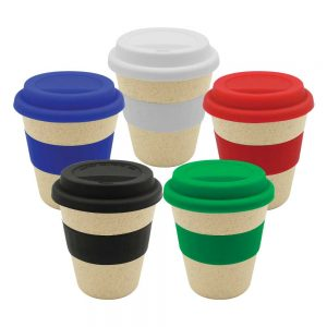 Wheat Straw Cups with Silicone lid & Band