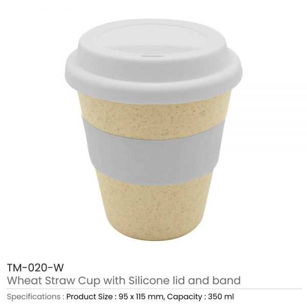 Wheat Straw Cups White