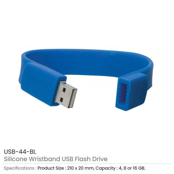 Wristband USB Flash Drive Blue